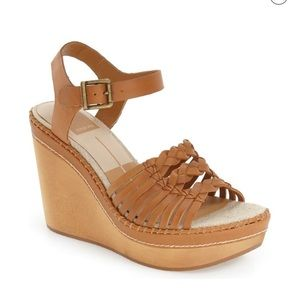 Dolce Via Ria wooden wedge sandals
